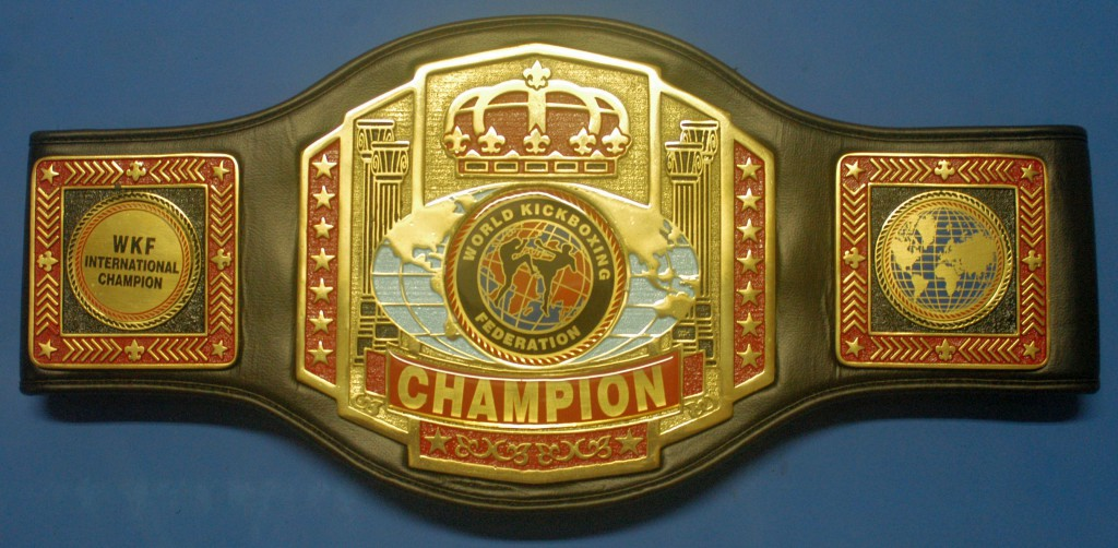 WKF International Champion belt